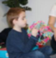 boy breathing yoga hobermas sphere