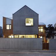 yellow wood house