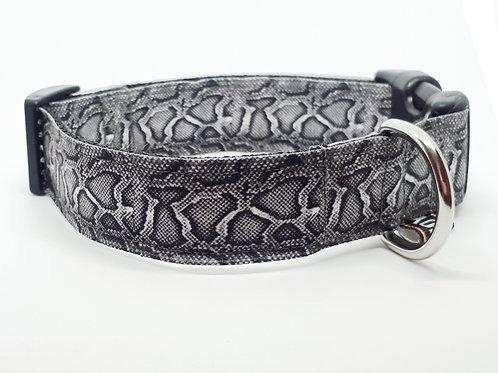 Hondenhalsband - Slangenprint grijs