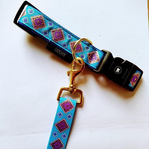 Halsband + riem hond - Yara