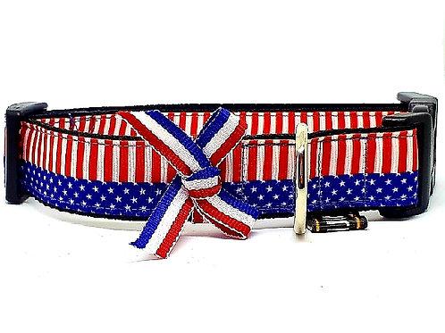Hondenhalsband - USA vlag