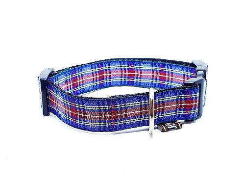 Hondenhalsband - Ruit blauw