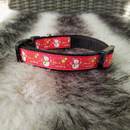 Halsband hond - sneeuwpop 20 mm