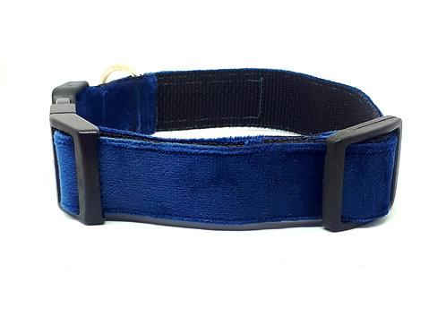 Hondenhalsband - Velvet blauw