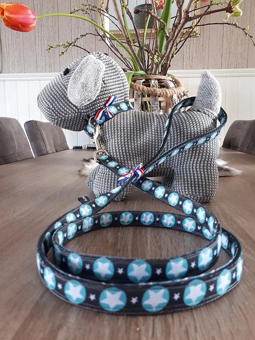 Hondenhalsband - blue star