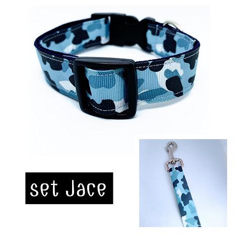 Halsband + riem hond - Jace