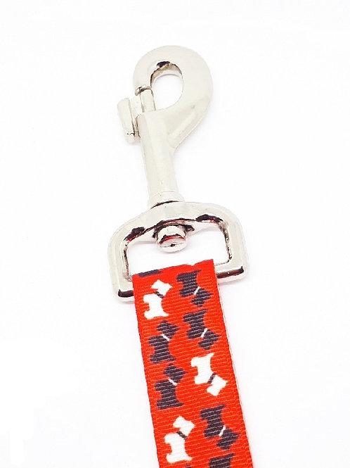 Hondenriem - Scottish terriers rood