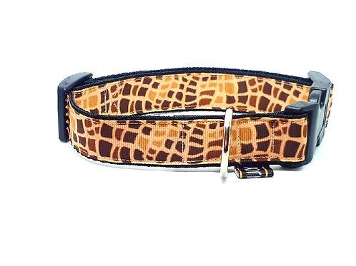 Hondenhalsband - Giraffe beige