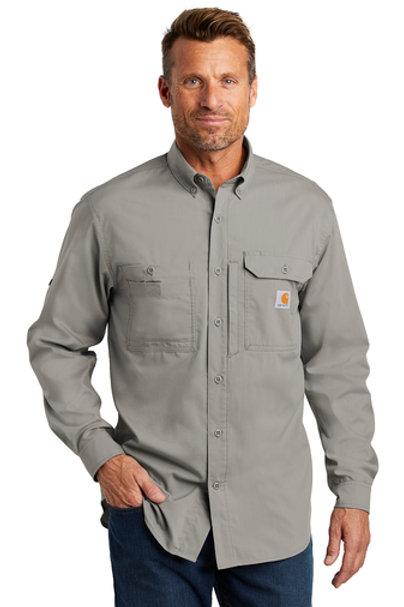 Carhartt Ridgefield Shirt Asphalt Long Sleeve XL