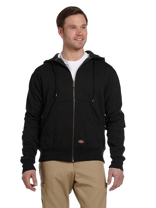 Dickies Thermal Lined Hooded Sweatshirt Zip Up Black XL