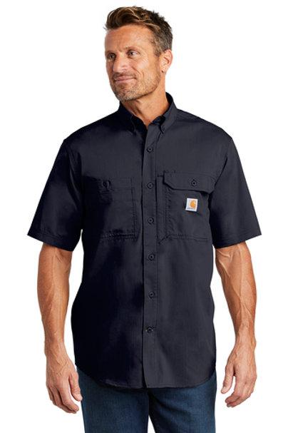 Carhartt Ridgefield Shirt Navy Short Sleeve L