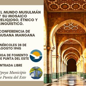 """Conferencia de Susana Mangana """"El mundo musulmán y su mosaico religioso, étnico y lingüístico""""."""