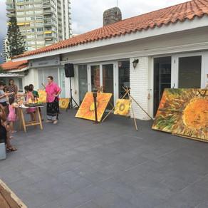 Taller abierto de arte para la culminación de 18a Semana del Mar.