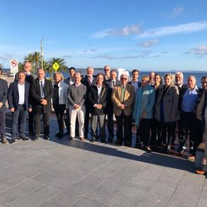 Embajada alemana y la Cámara de Comercio e Industria Uruguayo-Alemana visitó Maldonado.