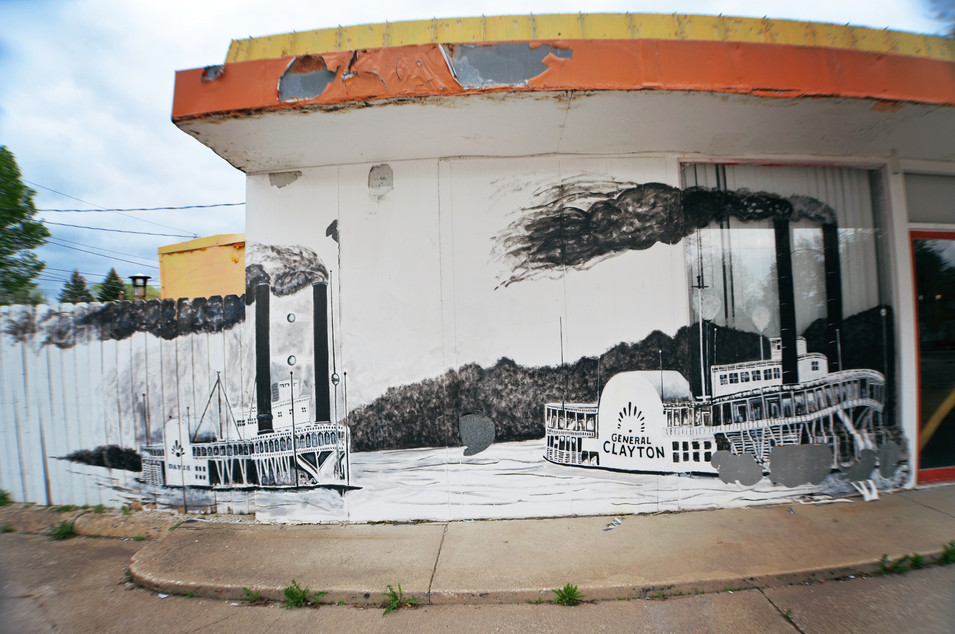 Clayton's Steamboat Mural