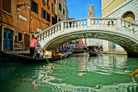 Canva - Gondolas of Grand Canal Venice,