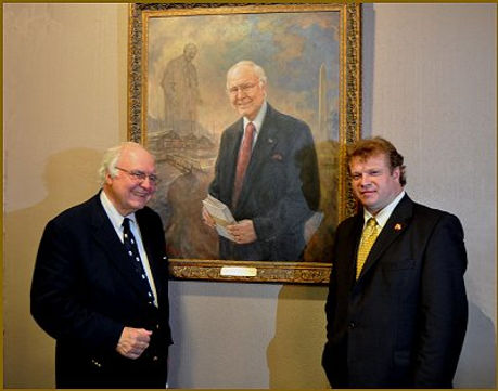 Michael Novak Portrait Unveiling. Portrait by portrait artist Igor Babailov.