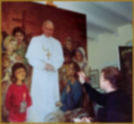 Painting the portrait of Pope John Paul