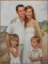 A family portrait (oil on canvas) by portrait atist Igor Babailov. Commissioned by Brent Cambel, Nashville, TN.