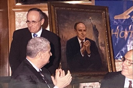 Official Portrait of Mayor Rudy Giuliani by Igor Babailov - Portrait unveiling, New York City