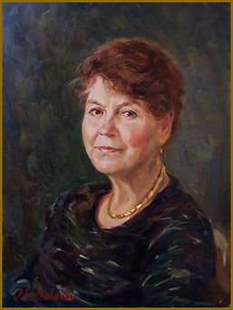 Portrait of Mama, the Artist's Mother (oil on canvas). Portrait by Igor Babailov.