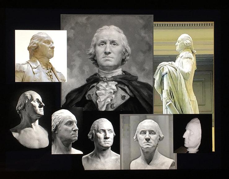 George Washington - Houdon - Babailov. Creation of the Portrait of George Washington, by Igor Babailov. Mount Vernon Museum, Mount Vernon, VA.