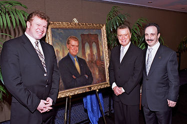 "Portrait of Regis Philbin ( ""Life with Regis and Kelly Show"", ""Who wants to be a millionaire,"" etc.), by Igor Babailov. Official unveiling in New York City."