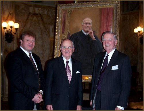 Artist Igor Babailov, Justice Joseph P. Sullivan and Mr. R. Reardon. Official portrait unveiling, New York City.