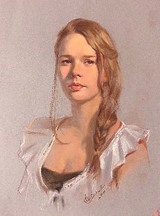 Young woman from Nashville (pastel), portrait by portrait artist Igor Babailov
