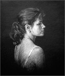 Martine, Montreal, drawing by Igor Babailov