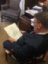 Wright Pinson, CEO of Vanderbilt Health System, portrait sketch from life, by Igor Babailov in Nashville, TN