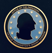 George Washington Presidential Coin Award - presented to Igor Babailov by Douglas Bradburn, president of Mount Vernon Museum