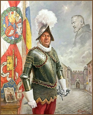 Official Portrait of Swiss Guard Commander, Christoph Graf, Vatican, by Igor Babailov, Sacred art by Igor Babailov.