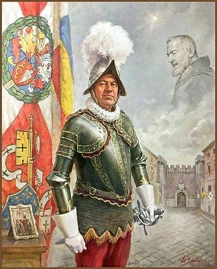 Official Portrait of Swiss Guard Commander, Christoph Graf, Vatican, by Igor Babailov, Sacred art by Igor Babailov.