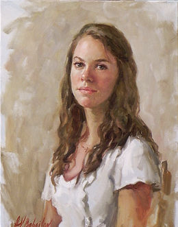Portrait of Hannah Barker. Oil on canvas by portrait artist Igor Babailov