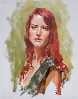 Portrait of an Irish Woman (oil on canvas), by portrait artist Igor Babailov