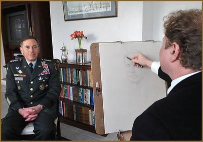 General David H. Petraeus, Portrait Sketch from Life, by Igor Babailov.
