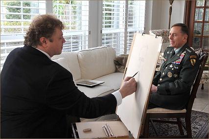 Portrait of General David Petraeus. Official Portrait Sitting. By Igor Babailov.