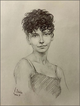 Giovanna, Drawing of an Italian girl, Florence, Graphite Drawing from Life by Igor Babailov