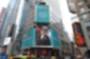 Igor Babailov, Chevalier of the Order of St. Anne - featured on the Billboard at Times Square in New York City