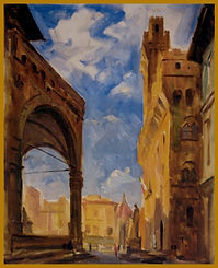 Arches, Florence, Plein Air painting by Igor Babailov