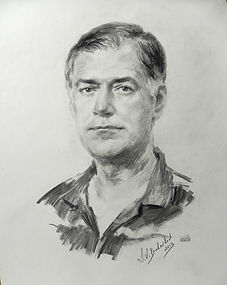 Portrait of Eduardo, drawing from life by Igor Babailov