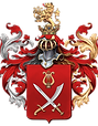 Portrait Artist Igor Babailov's Coat of Arms, Heraldic Achievement, Hereditary Nobility - by Official Decree of The Imperial House of Romanoff. Igor Babailov, Noble Portrait Artist - Chevalier of the Order of St. Anne (est.1735).