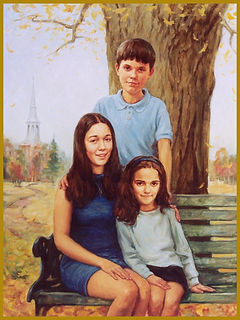 The Power children, Pittsburgh, PA. Group family portrait painting by Igor Babailov.