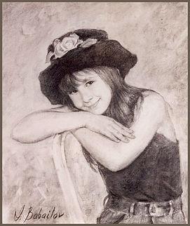 Portrait of Alli Holzberg, by Igor Babailov. Collection: Mr. & Mrs. Geraldine and Bennett LeBow (Fisher Island, Florida), Portraits of children by portrait artist Igor Babailov