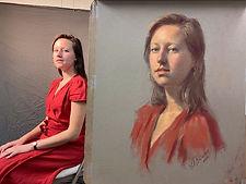 Igor Babailov Master Workshop - Portrait in Pastel, Master Demo - by Igor Babailov