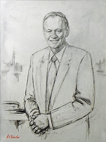 Portrait of Prime Minister Jean Chretien of Canada, by portrait artist Igor Babailov. Collection: Power Corporation of Canada.