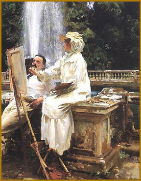 John Singer Sargent - Fountain. The Seven Essentials of Portraiture. Igor Babailov.