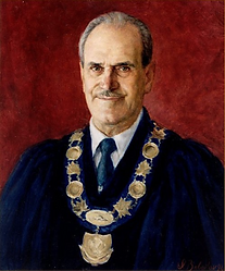 Portrait of Mayor Piroth (oil on canvas), Collection of City Hall Picton, Ontario, Canada, portrait by Igor Babailov