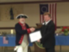 George Washington presentation by Igor Babailov to the National Society of the Sons of the American Revolution